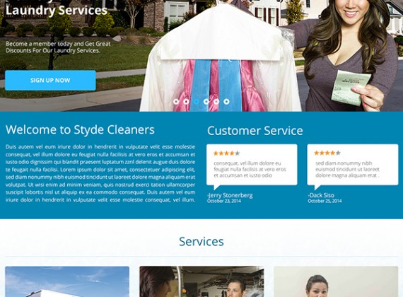 Styde Cleaners - Web Design by Custom A Design