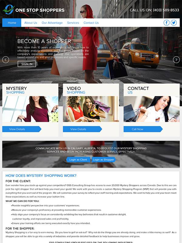 Oss Consulting Group - Web Design by Custom A Design