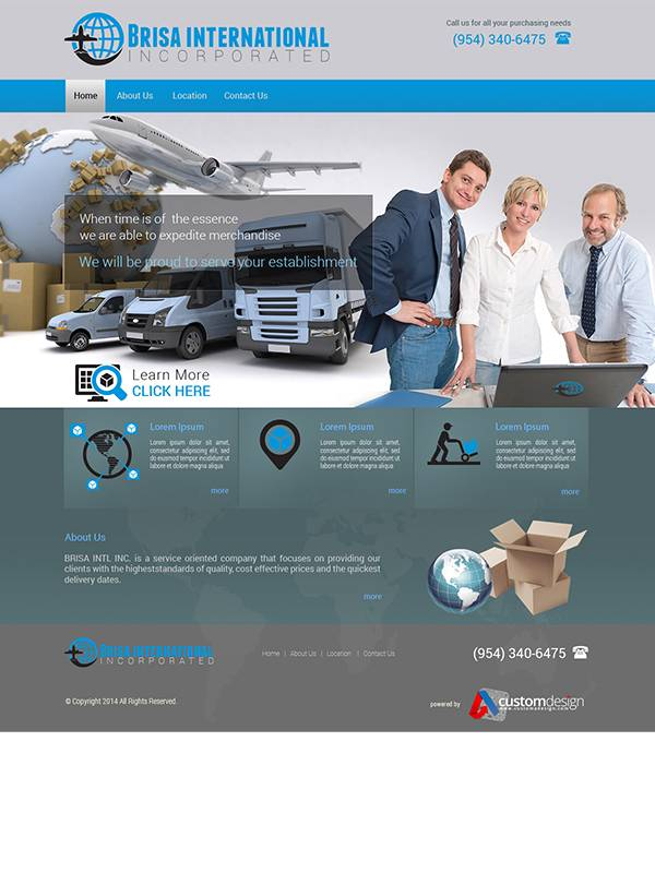 Brisa International Incorporated - Web Design by Custom A Design