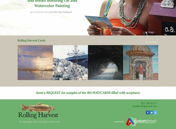 Rolling Harvest - Web Design by Custom A Design